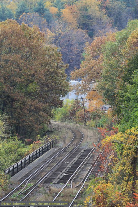 The old Boston & Maine line was pretty quiet. This is the view looking west from East Deerfield where I've made a great many photographs in the last 30 plus years. Canon EOS 7D with 200mm lens.