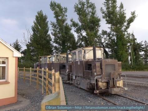Bord na Mona locomotives at Shannonbridge. Lumix LX7 photo.