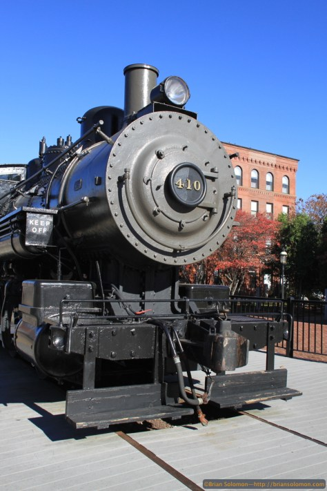 Boston & Maine 410 is a static display at Lowell. It is one of only a few surviving Boston & Maine steam locomotives. Canon EOS 7D