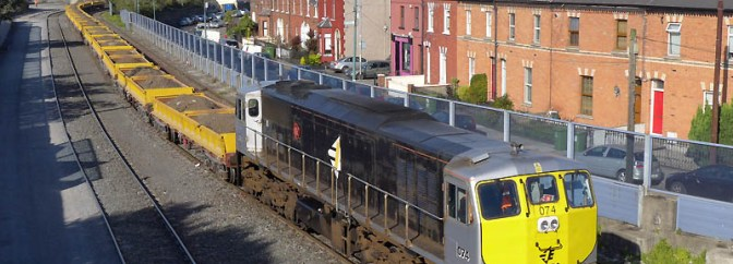 Irish Rail Class 071s at Dublin's North Wall.