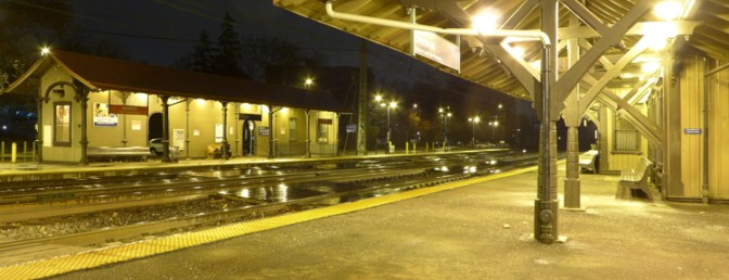 Rainy Night on the Main Line.