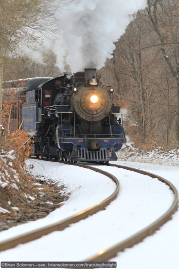 Reading & Northern 425 approaches Schuylkill Haven, Pennsylvania on the old Reading Company line. Exposed using a Canon 7D with 200mm lens.