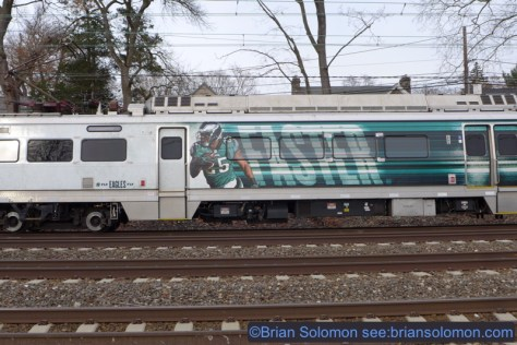 Advertising on a Silverliner V. Lumix LX7 photo.