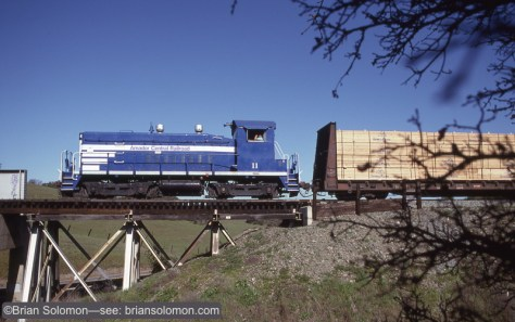 Amador Central number 11 works a short freight in March 1997.