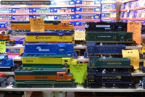 Lots of locomotives to look at.