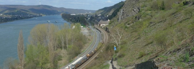 Looking Back along the Rhein.