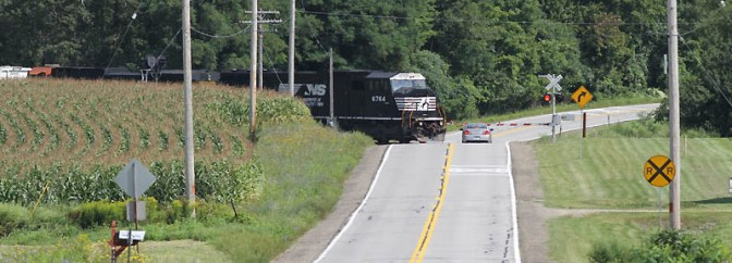 Norfolk Southern on the old Erie Railroad in August