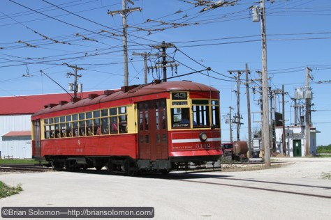 Chicago Transit Authority streetcar at IRM, exposed with a Lumix LX3 in June 2010.