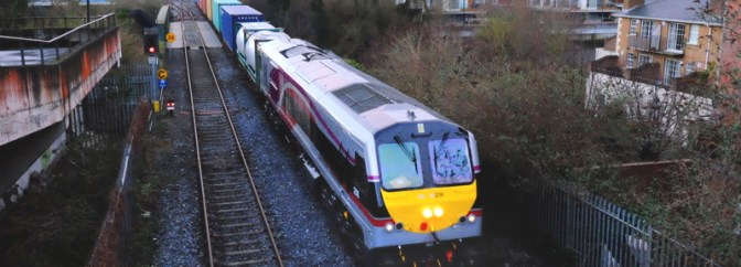 SPECIAL POST: Irish Rail 206 in a New Livery; February 25, 2015.