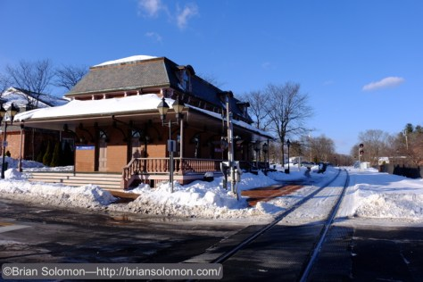 Former New Haven Railroad station at Windsor, Connecticut , exposed with Fuji X-T1 with 18-135mm lens.