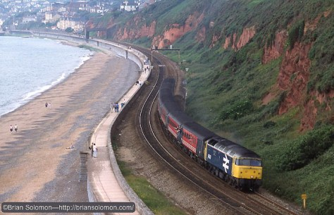 Class 47 at Dawlish Warren. Nice spot, but I didn't know I'd need to take a number and join the queue to make a photo there.