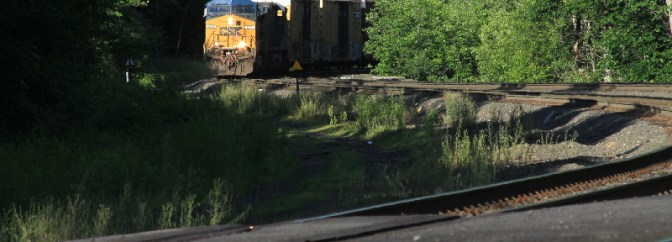 CSX Emerges from the Shadows—Middlefield, Massachusetts.