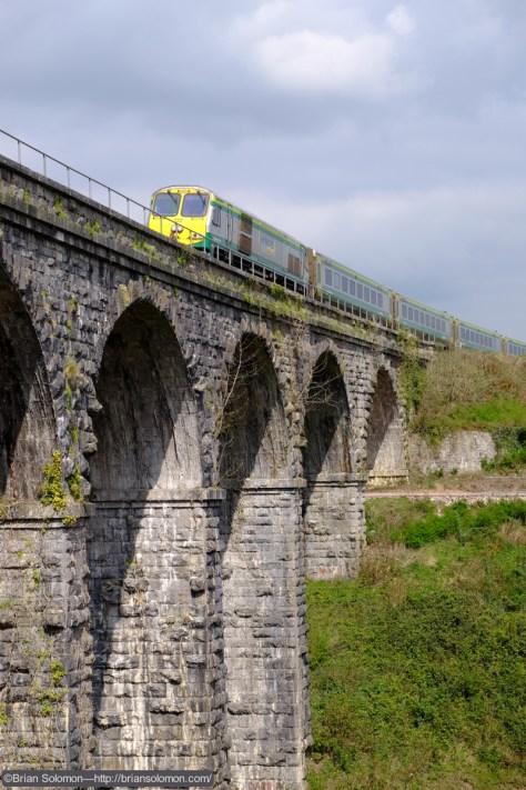 Irish Rail 222 leads the down Dublin-Cork passenger train. Exposed with a Fujifilm X-T1 digital camera.