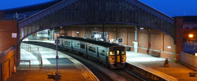 Irish Rail's Kent Station, Cork—Three Photos at Dusk.