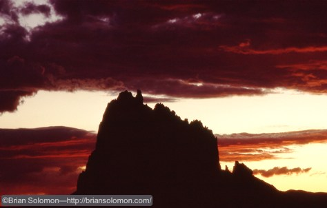 Phase 3: 'Drop-under' as seen with Shiprock in northern New Mexico in August 1991.