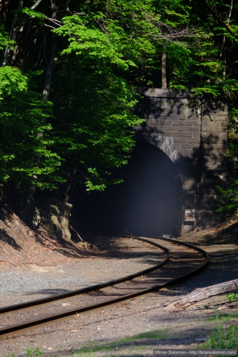 A bit of mist or exhaust was exiting the tunnel portal. This would complicate my exposure.