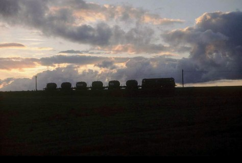 Phase 2: As seen with an Irish Rail overflow cement train at The Curragh, County Kildare just after 10pm  back in 1998.