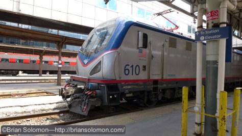 Amtrak's ACS-64 610 at Washington Union Station.