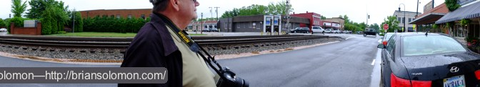 Panoramic composite at Ashland, Virginia.