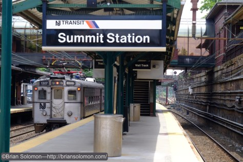 The old DL&W line is a cutting at Summit and the station straddles the line. Owing to the alignment of the track and the cutting, noon time is allows for light on the tracks. While there might nicer sun at other times of the day, it would be of little use because of the shadows.