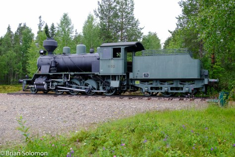 An old Tk3 2-8-0 is on public display.