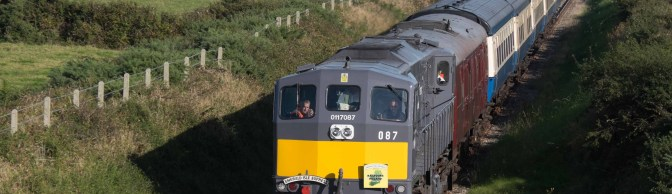 Emerald Isle Express Crosses the Rarely Used South Wexford—September 28, 2015.