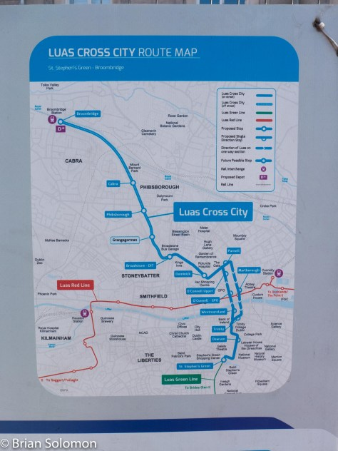 Map of LUAs Cross City works and plan. Lumix LX7 photo.