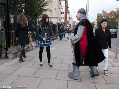 Sword fight, er yeah.