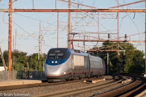 Amtrak Acela Express train 2165 was on its way to Washington DC.