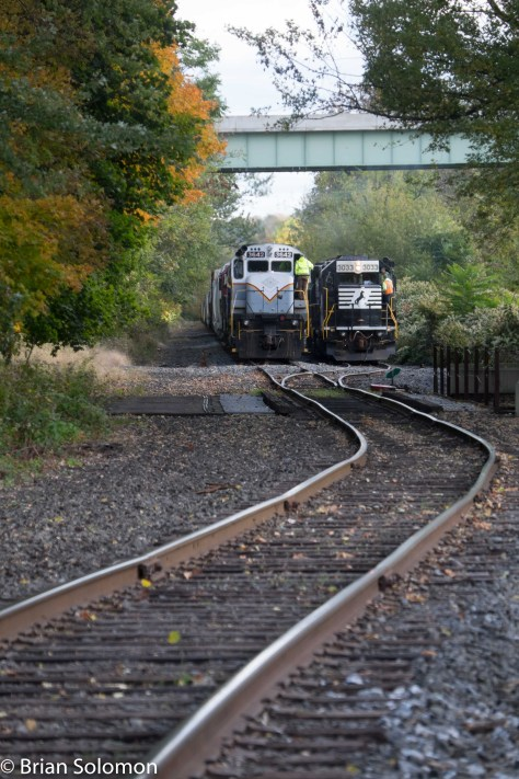At Portland, the D-L and Norfolk Southern interchange freight.