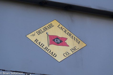 Delaware Lackawanna Railroad's herald is patterned after the old Lehigh Valley logo.