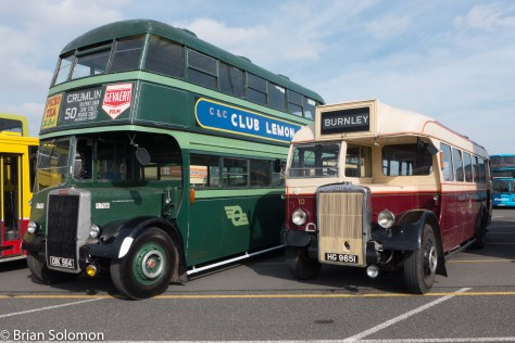 Old railway buses. (of the rubber tired variety).