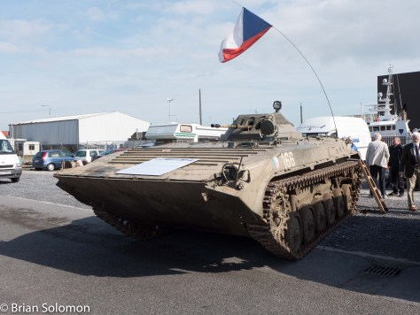 Russian tank complete with flag.