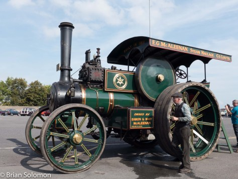 There were no railway locomotives on display, but this old steam tractor was chuffing about and hissing steam.