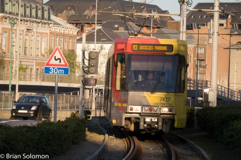 TEC tram catches a wink of sun on 1 October 2015. FujiFilm X-T1 photo.