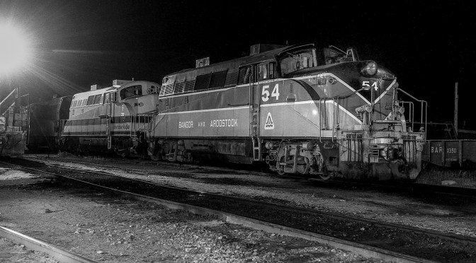 The American Railfan lurks in the Darkness.