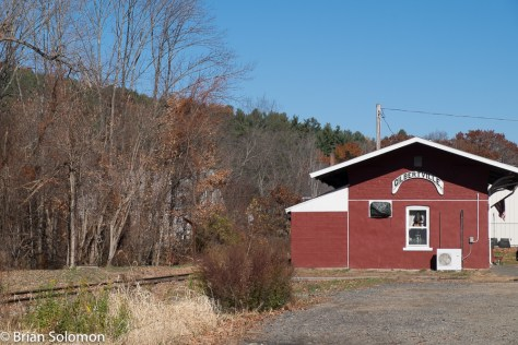 The old B&A station at Gilbertville, Massachusetts.