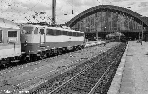 Köln Hbf in August 1998, exposed on Ilford HP5.