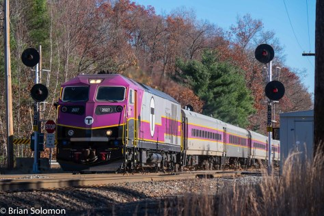 MBTA train 453AM works west of Ayer. How long will this new diesel and these old signals co-exist? Bets anyone? The replacement signals are already in place at Shirley.