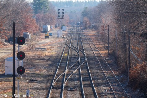 Looking east at Ayer, Massachusetts.