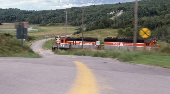 Bangor & Aroostook Railroad Photo and a Great Rolling Ribbon!