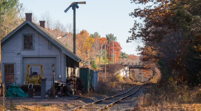 Historic Relic; old Railway Station at Holden, Massachusetts.