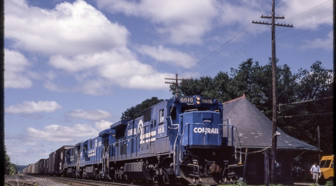 Conrail Camel at East Brookfield; Fixing a Dark Slide.