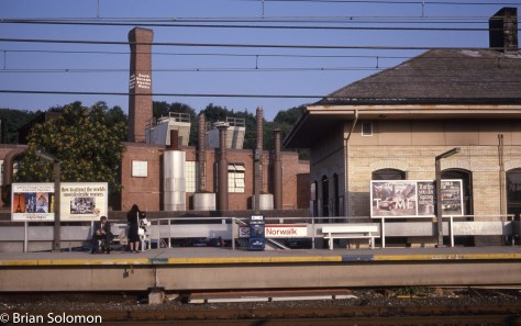 South Norwalk station as it appeared on the morning of September 7, 1989.