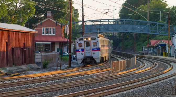 SEPTA on Summer Evening: Silverliner on the old PRR Main Line.