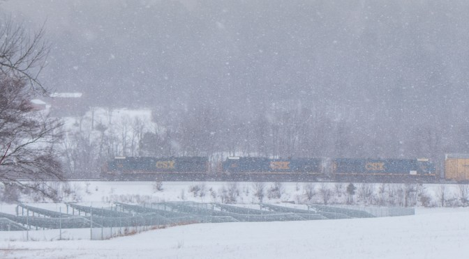 CSX Monday Traffic: Snow, Cold and Being There—a Dozen New Photos.