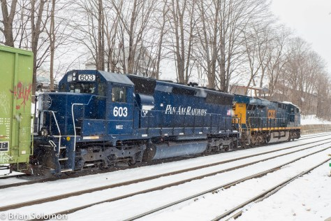 It's been a while since I saw a blue SD45 roll through Palmer on the Boston & Albany.