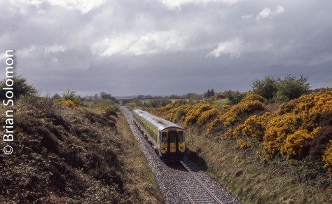 2700-series diesel railcars work the Kerry Road near Rathmore in May 2006.