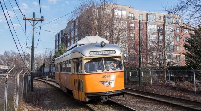 MBTA—Milton, Massachusetts, Now and Then.