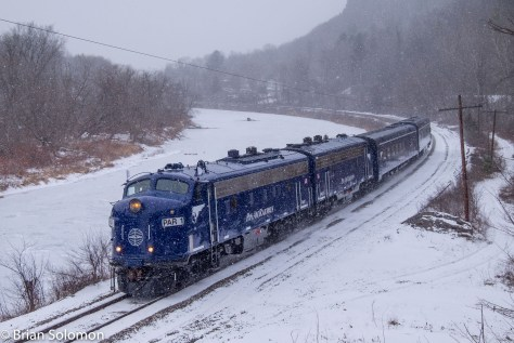 Pan Am's OCS at North Pownal, Vermont. The temperature was a balmy 22 degrees F. Warm!